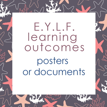 Posters + documents: Early Years Learning Framework (EYLF)