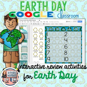 Earth Day Digital Interactive Notebook Primary