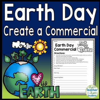 Earth Day Writing - Create a Commercial Skit - Earth Day Activity