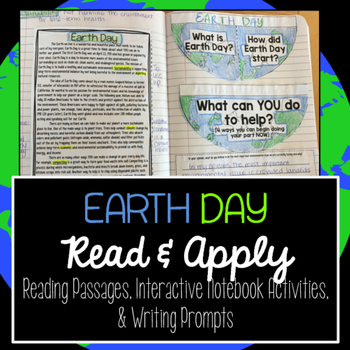 Earth Day Reading Comprehension Interactive Notebook
