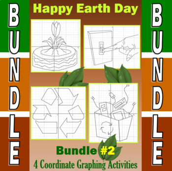 Earth Day - 5 Coordinate Graphing Activities - Bundle #2