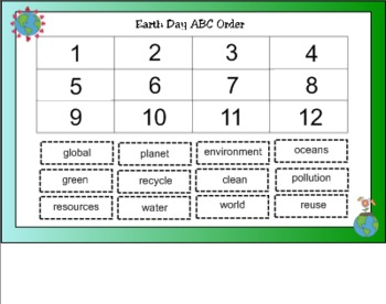 Earth Day ABC Order for SMART Board