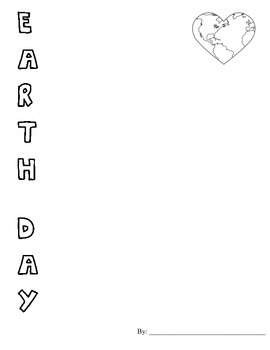 Earth Day Acrostic Poem paper