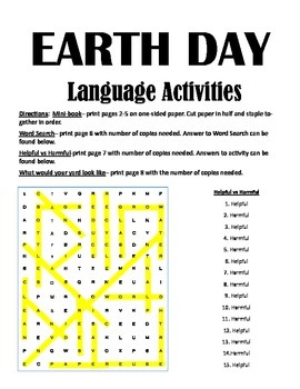 Earth Day Activites