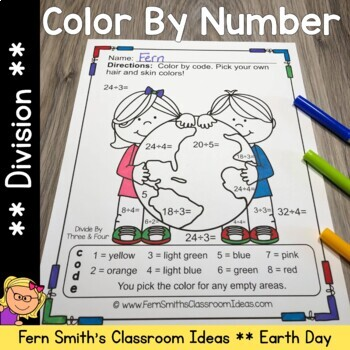 Color By Numbers Earth Day Division