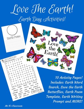 Earth Day Activity Kit! Writing & Poetry Prompt, Word Sear