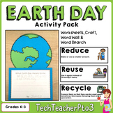 Earth Day Activity Pack Craft, Literacy & Math Activities,
