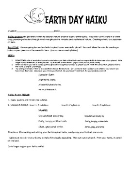 Earth Day Activity Packet- 2 Writing Assignments and a Rea