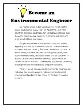 Earth Day: Become an Environmental Engineer!