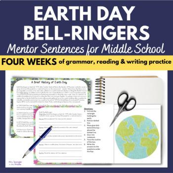 Earth Day Bell Work / Bell Ringers ~ Mentor Sentences for