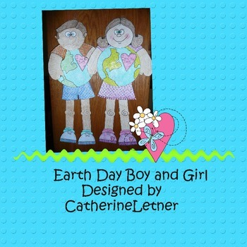 Earth Day Craft/Boy and Girl