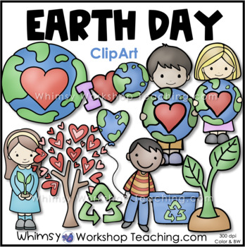 Earth Day Clip Art  - Whimsy Workshop Teaching