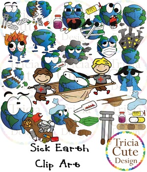 Earth Day Clipart – Sick Earth