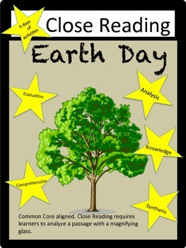 Earth Day: Close Reading Packet- 5 days of activities: Com