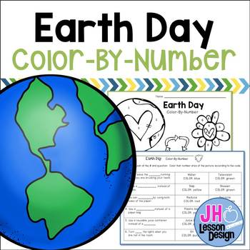 Earth Day Color-By-Number