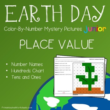 Earth Day Color-By-Number: Place Value (K-2)