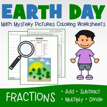 Earth Day Coloring Worksheets - Fraction