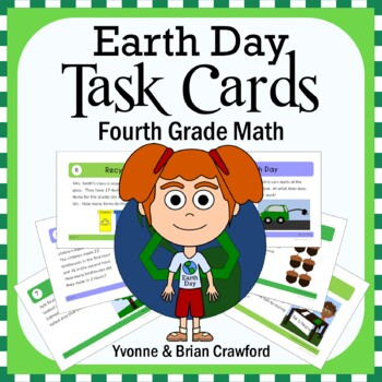 Earth Day Math Task Cards (4th Grade Common Core)