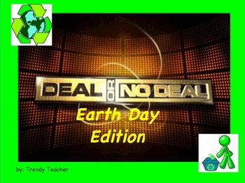 Earth Day Conservation Deal or No Deal game flipchart