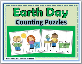 Earth Day Counting Puzzles Numbers 1-10