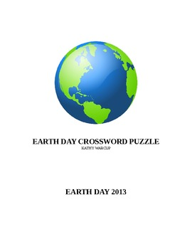 Earth Day Crossword Puzzle 2013