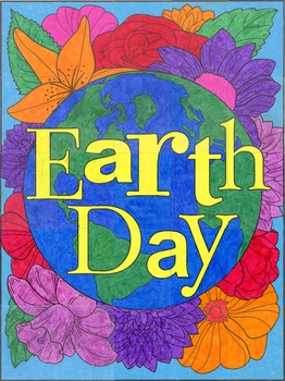 Earth Day Floral Mural