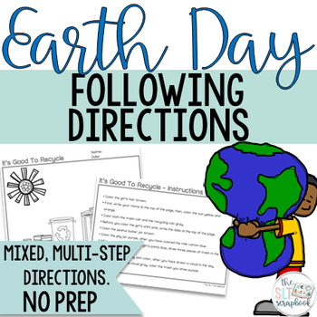Earth Day Following Directions Coloring Pack- No Prep, Low Ink.
