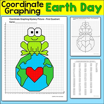 Earth Day Coordinate Graphing Ordered Pairs Mystery Picture