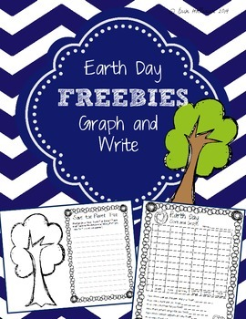 Earth Day Graph and Write Freebie