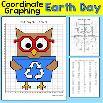 Earth Day Coordinate Graphing Ordered Pairs Mystery Pictur