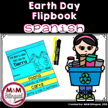 Earth Day Interactive Flipbook {SPANISH}