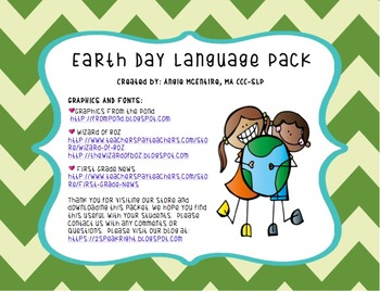 Earth Day Language Pack