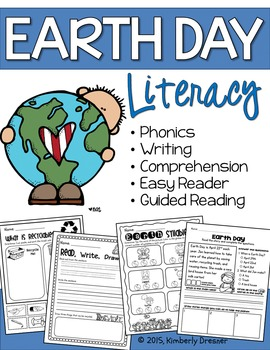 Earth Day Literacy Activities. Phonics, Writing & More! NO PREP!