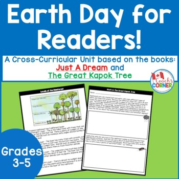 Earth Day Literature Unit for Just a Dream and The Great K