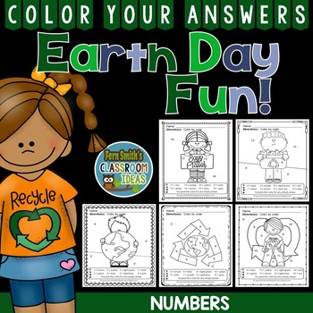 Earth Day Color By Numbers Earth Day Math Know Your Number