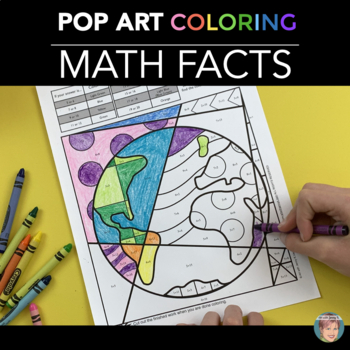Earth Day Math Fact Coloring Sheets