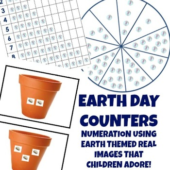 Math Counters - Earth Day Theme