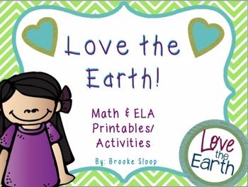 Earth Day Math & ELA Printables & Activities