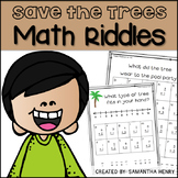 Save the Trees Math Riddles #kindnessnation