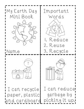 Earth Day Mini Booklet Primary Literacy Emergent Reader an