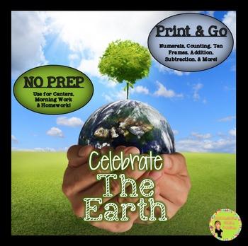 Earth Day: NO PREP Math Printables