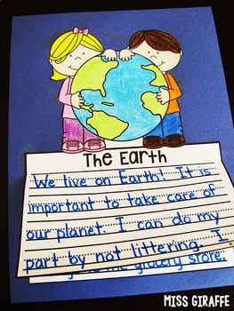 Earth Day Writing Crafts Bundle (No Prep!)