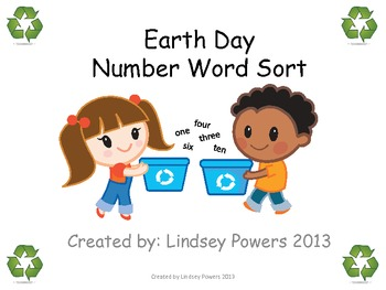 Earth Day Number Word Sort