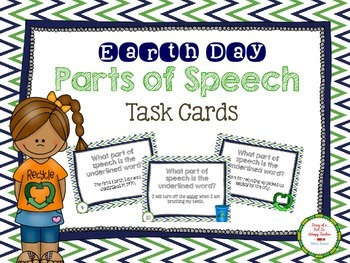 Earth Day Parts of Speech Task Cards