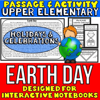 Earth Day: Passage and Questions: Interactive Notebook