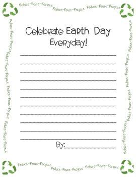Earth Day Persuasive Writing