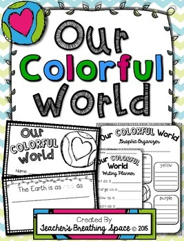 """Earth Day Book --- """"Our Colorful World"""" Book and Poem ---"""
