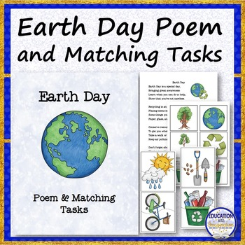 Earth Day Poem & Matching Tasks