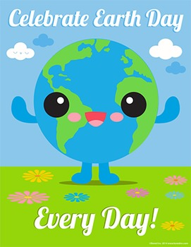 Earth Day Poster 8 1/2 x 11