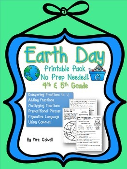 Earth Day Printable Pack - 4th and 5th Grade